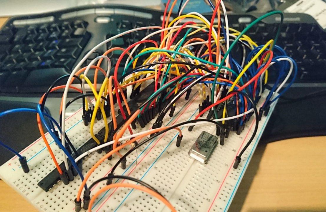 complex circuit design on breadboard
